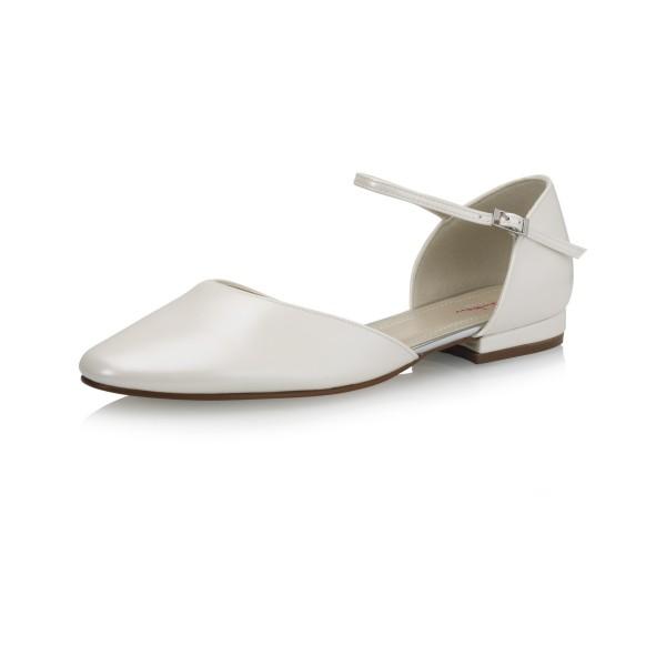 Vegane Schuhe | Brautschuh Little Rosi Seitenansicht schräg
