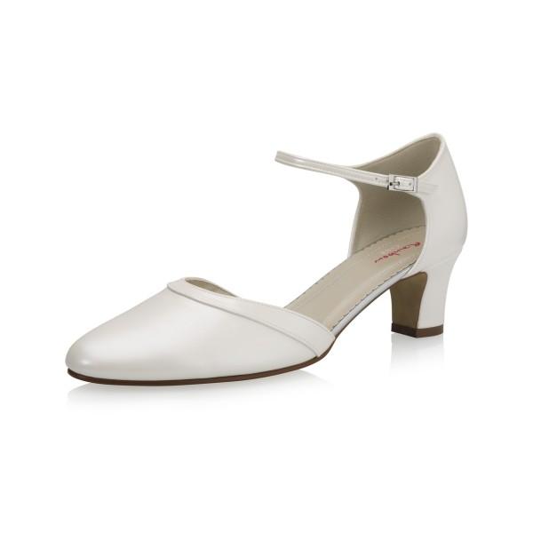 Vegane Schuhe | Brautschuh Bright Sunshine Seitenansicht schräg