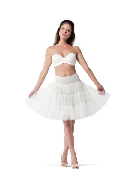 Kurzer Petticoat mit Tüllrüschen