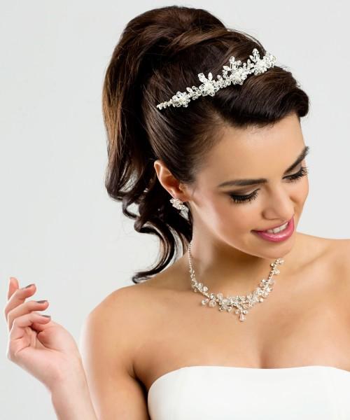 Braut mit Schmuckset Alexandra Halskette mit Ohringen im Set