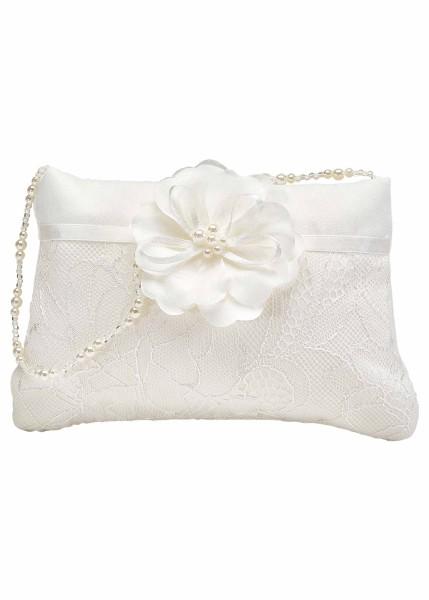 Brauttasche mit Spitze und Blüte