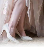Brautschuh Giverney ivory Vintage Lace