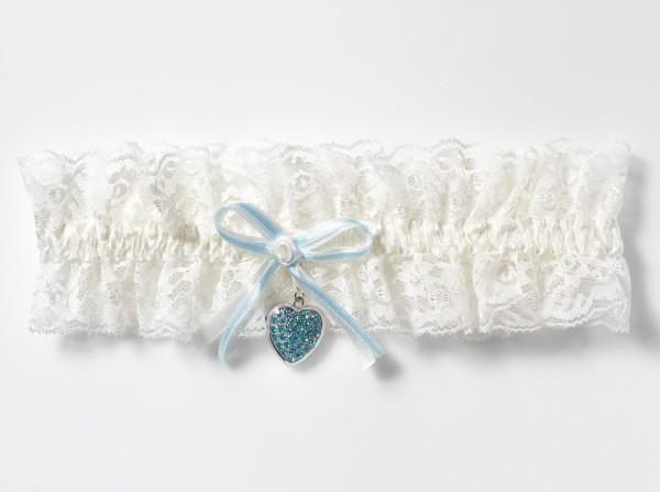 Strumpfband für die etwas stärkere Braut. Strumpfband XXL mit Medaillon