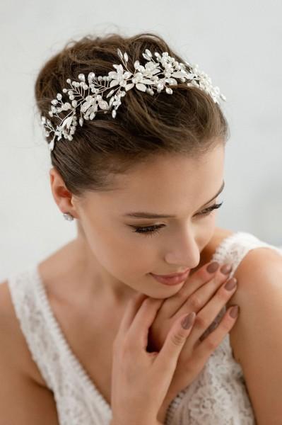 Braut-Haarband Fernanda | Silber