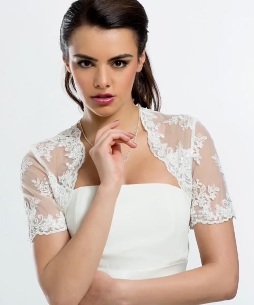 Spitzen Bolero zu Brautkleid