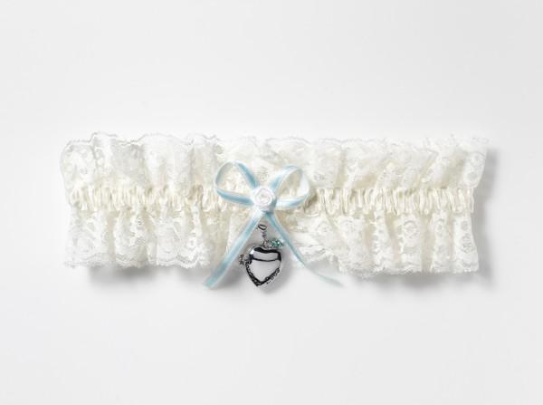 XXL Luxus Strumpfband mit Medaillon