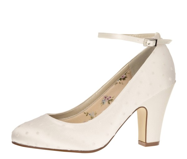Brautschuh Polly ivory (creme) / Polka Dot Tulle