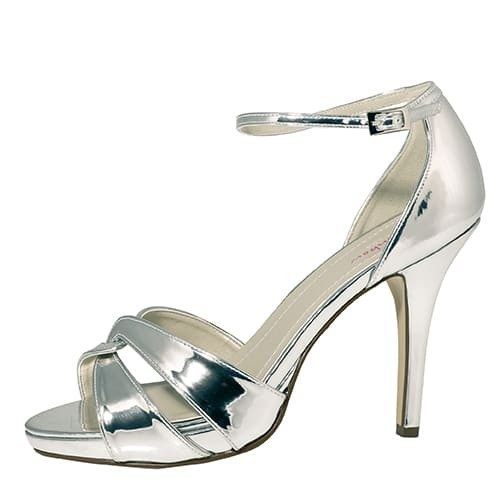 Cate Brautschuhe in Silber