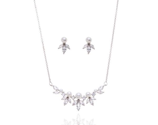 Brautschmuckset in Silber