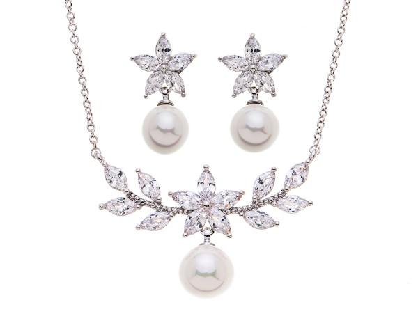 Perlenschmuck in Silber für die Hochzeit