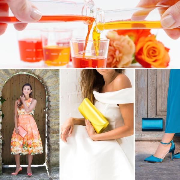 Elsa Coloured Shoes Färbeservice für eine Brauttasche