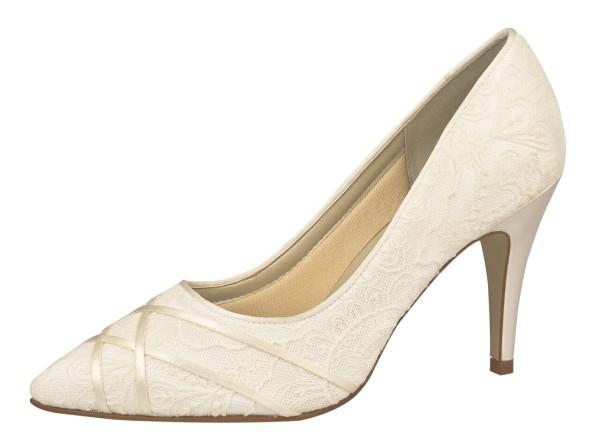 Brautschuh Ashleigh ivory (creme)