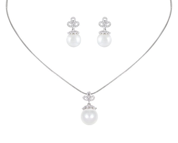 Schmuckset 104 mit Perlen