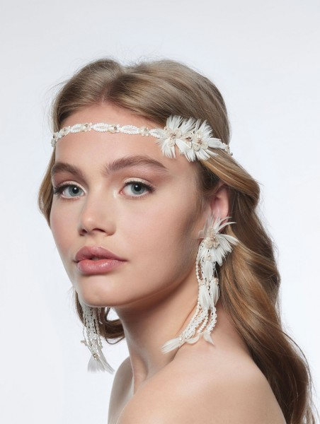 Boho Haarband aus Spitze   BB-8607