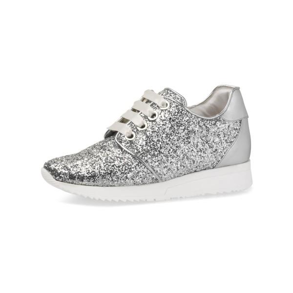 Lizzi Sneaker Silber Glitter