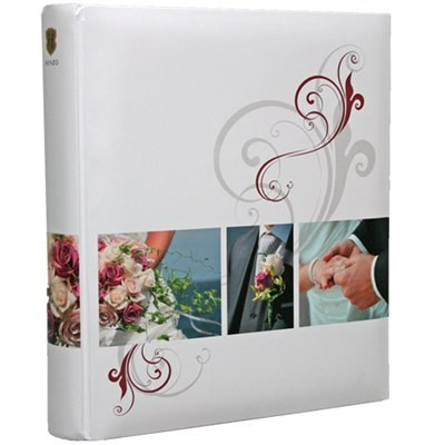 Hochzeits Fotoalbum Love Story weiss