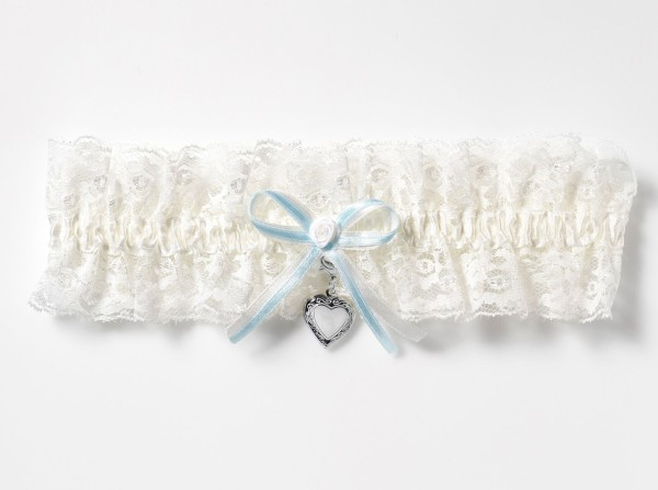 Strumpfband mit Medaillon Größe XXL - Plus Size Strumpfband für die Braut