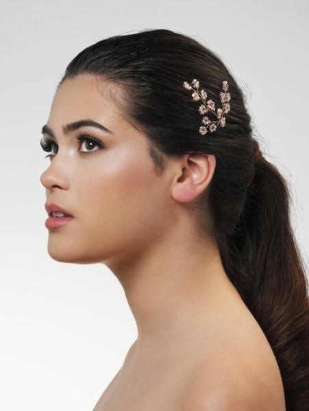 Deluxe Rosé Haarspange mit Perlen