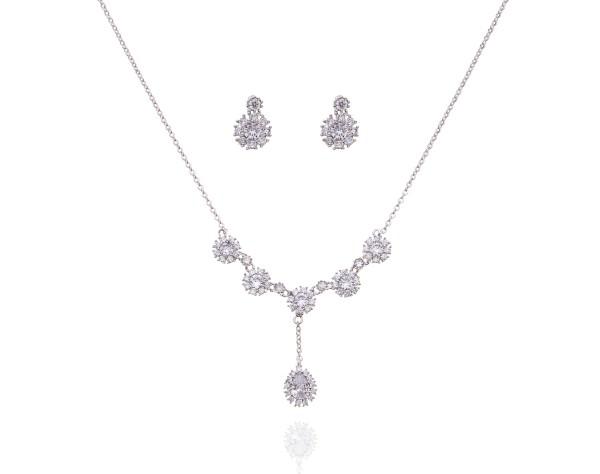 Bridal Jewellery Set - Silver - Rhodium
