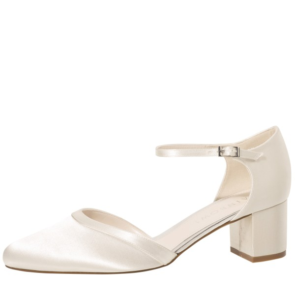 Brautschuh Stacy Ivory Satin - Ansicht Rainbow Club 2020