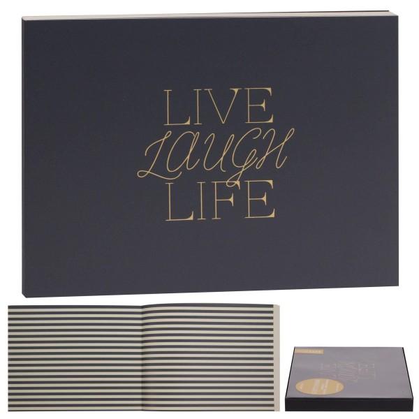 "Gästebuch ""Live Laugh Life"""