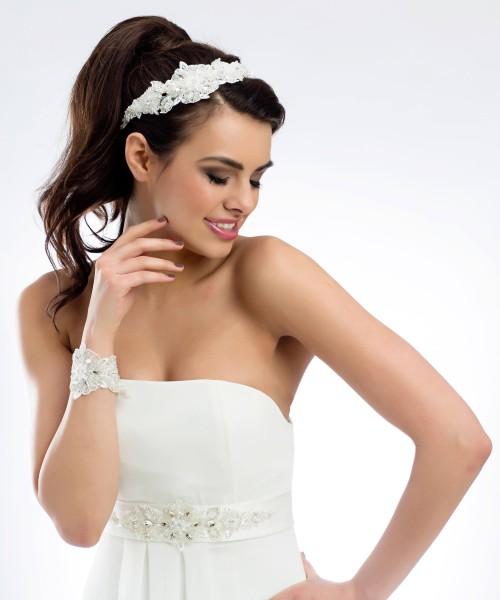 Armband zur Hochzeit - Spitzenarmband für die Braut im Boho Vintage Style