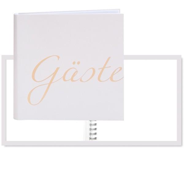 "Gästebuch ""Gäste"" gold/perlmut"