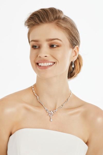 Olivia Halskette mit Ohrringen im Set