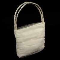 Tüll-Tasche für die Braut weiß