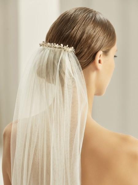 Schleierabschluss BB673 auf Brautschleier