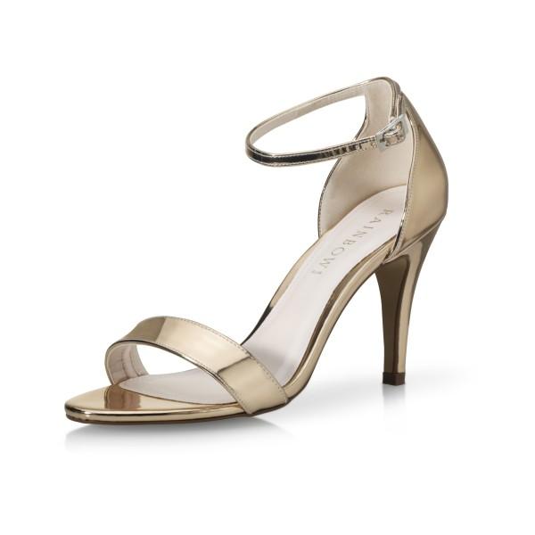 Brautschuh Dali Rosé-Gold - Brautschuh Rosé-Gold hochglanz Seitenansicht schräg