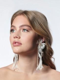 Boho Ohrringe für die Braut