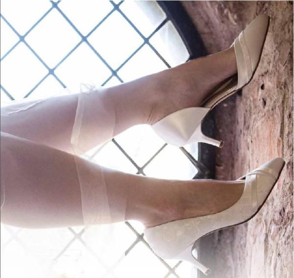 Brautschuh Wilma ivory (creme) /Lace