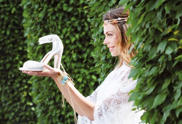 Brautschuh Noralie perle